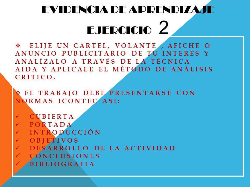 EVIDENCIA DE APRENDIZAJE EJERCICIO 2