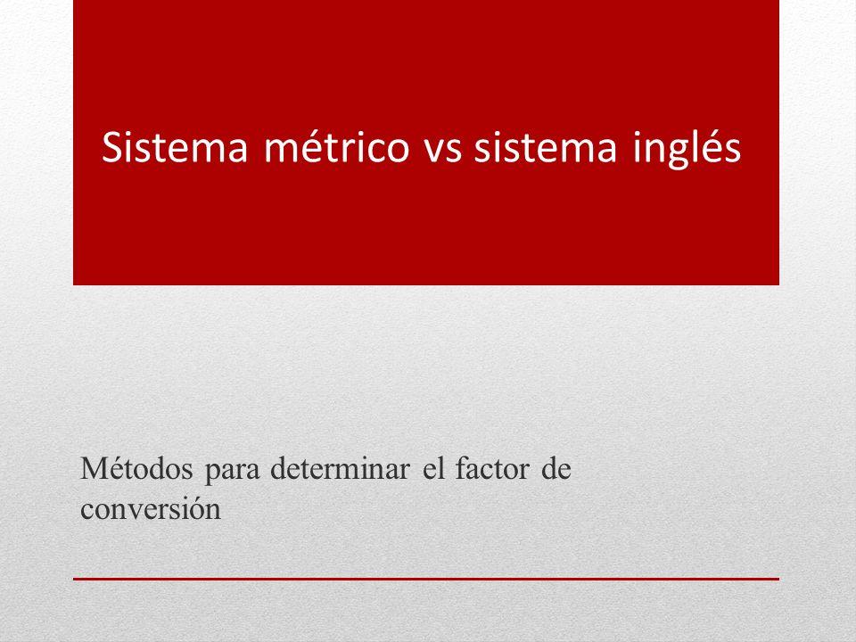 Sistema métrico vs sistema inglés