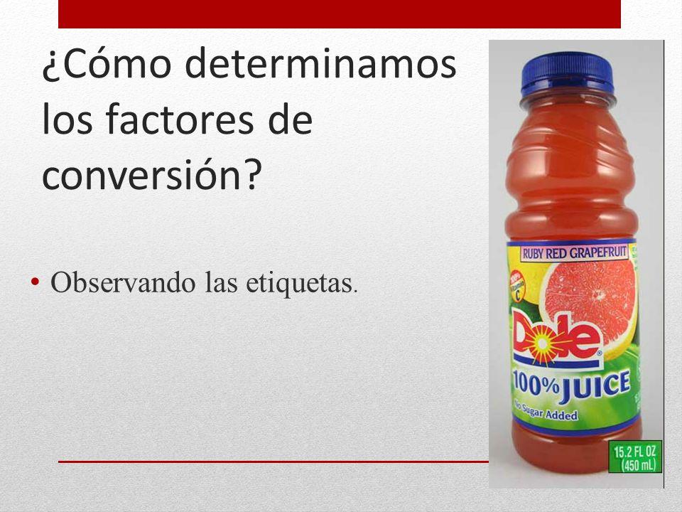 ¿Cómo determinamos los factores de conversión