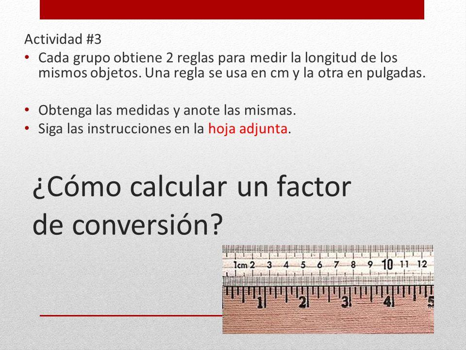 ¿Cómo calcular un factor de conversión
