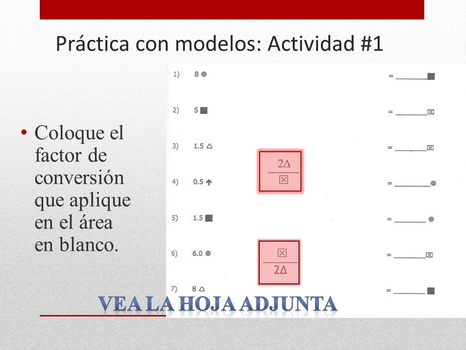 Práctica con modelos: Actividad #1