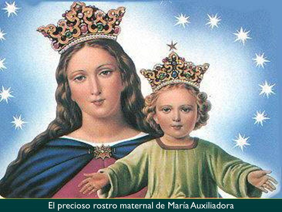 El precioso rostro maternal de María Auxiliadora