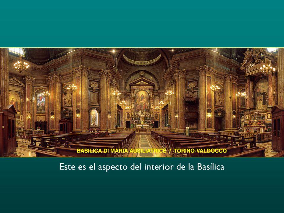Este es el aspecto del interior de la Basílica
