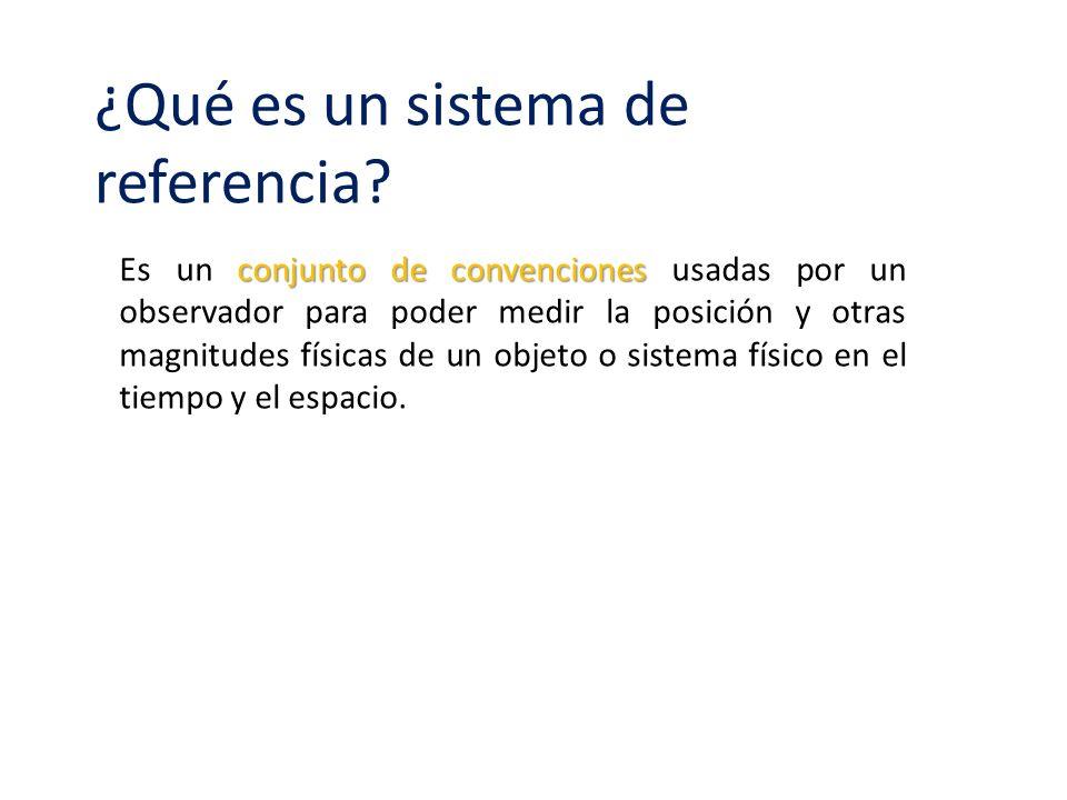 ¿Qué es un sistema de referencia