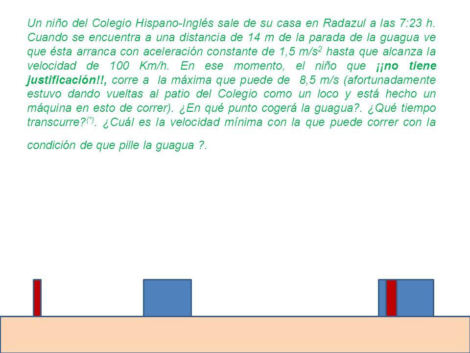 Un niño del Colegio Hispano-Inglés sale de su casa en Radazul a las 7:23 h.