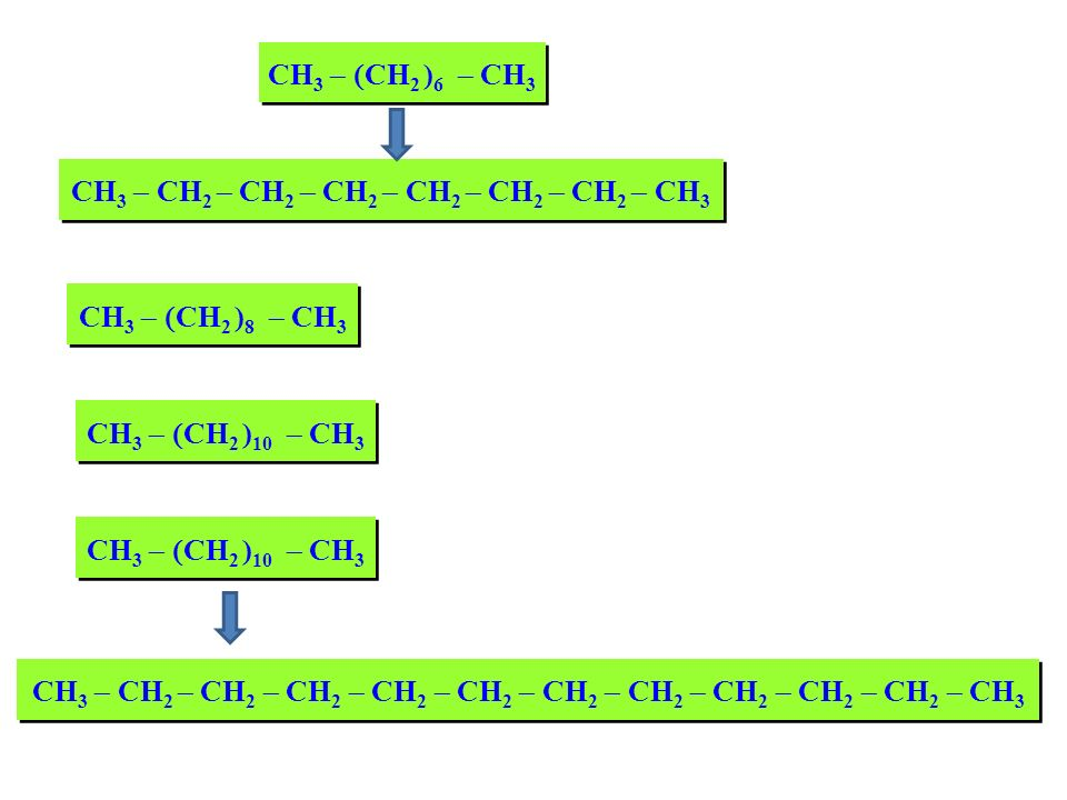 CH3 - CH2 - CH2 - CH2 - CH2 - CH2 - CH2 - CH3