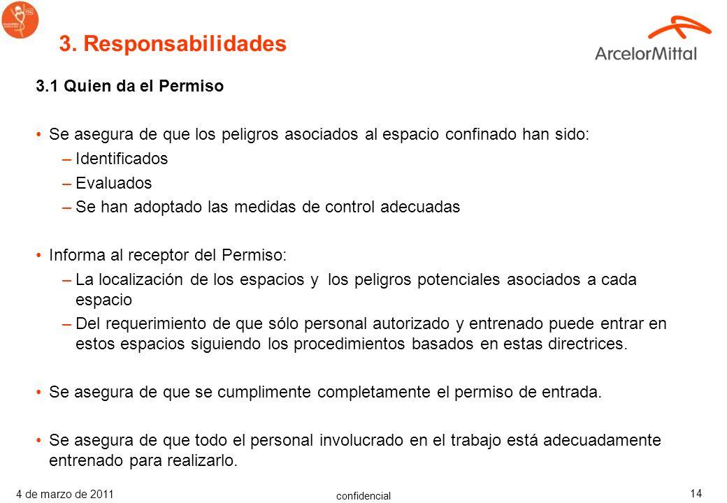 3. Responsabilidades 3.1 Quien da el Permiso
