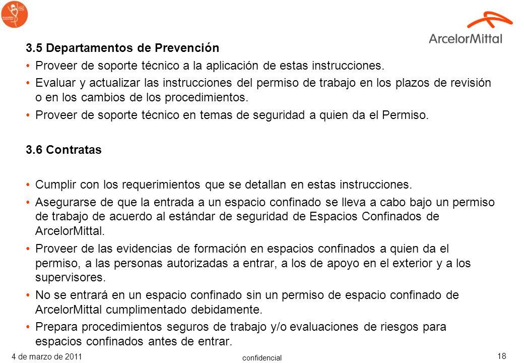 3.5 Departamentos de Prevención