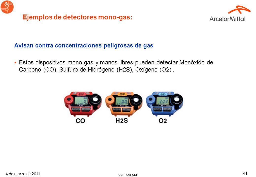 Ejemplos de detectores mono-gas: