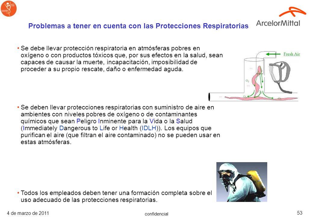 Problemas a tener en cuenta con las Protecciones Respiratorias