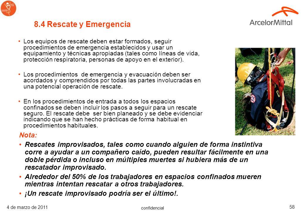 8.4 Rescate y Emergencia Nota: