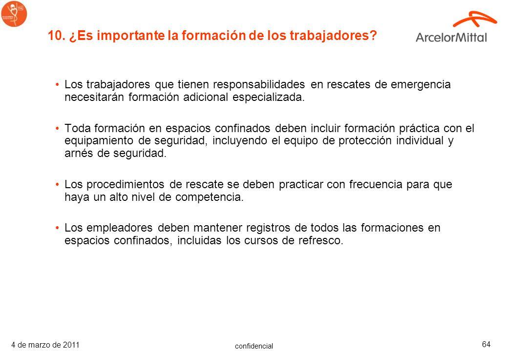 10. ¿Es importante la formación de los trabajadores