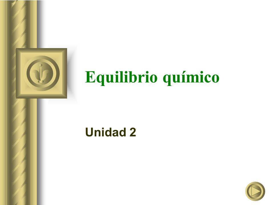 Equilibrio químico Unidad 2