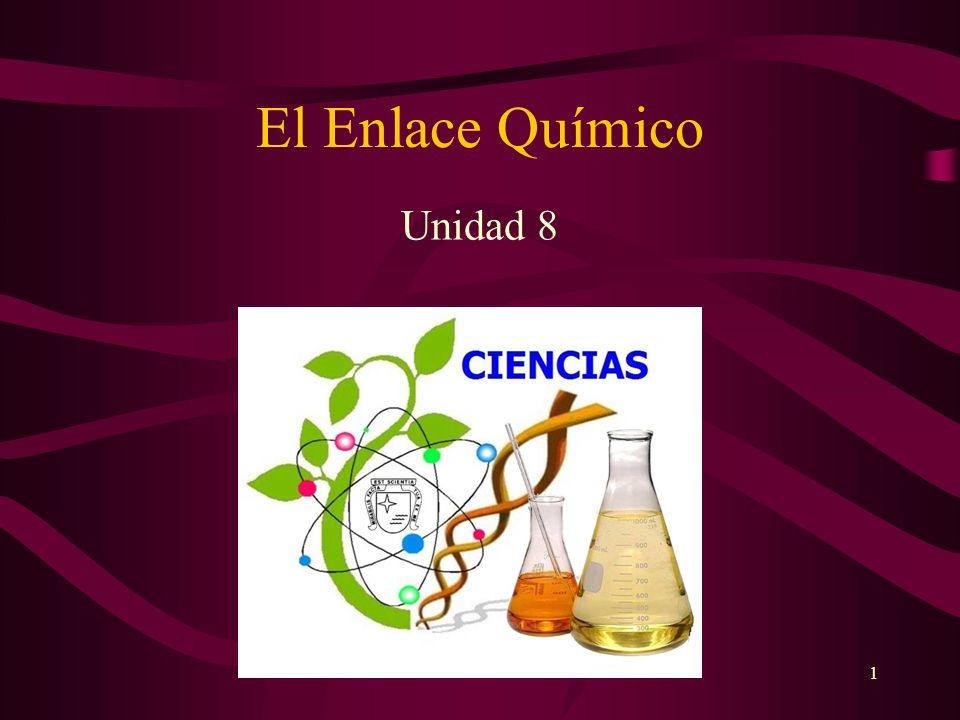 El Enlace Químico Unidad 8