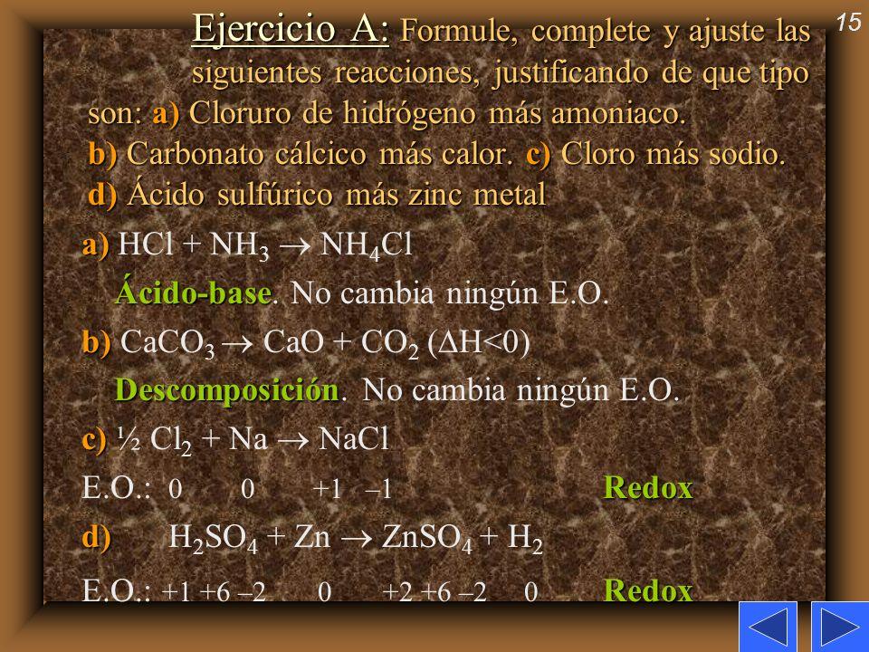 Ejercicio A: Formule, complete y ajuste las