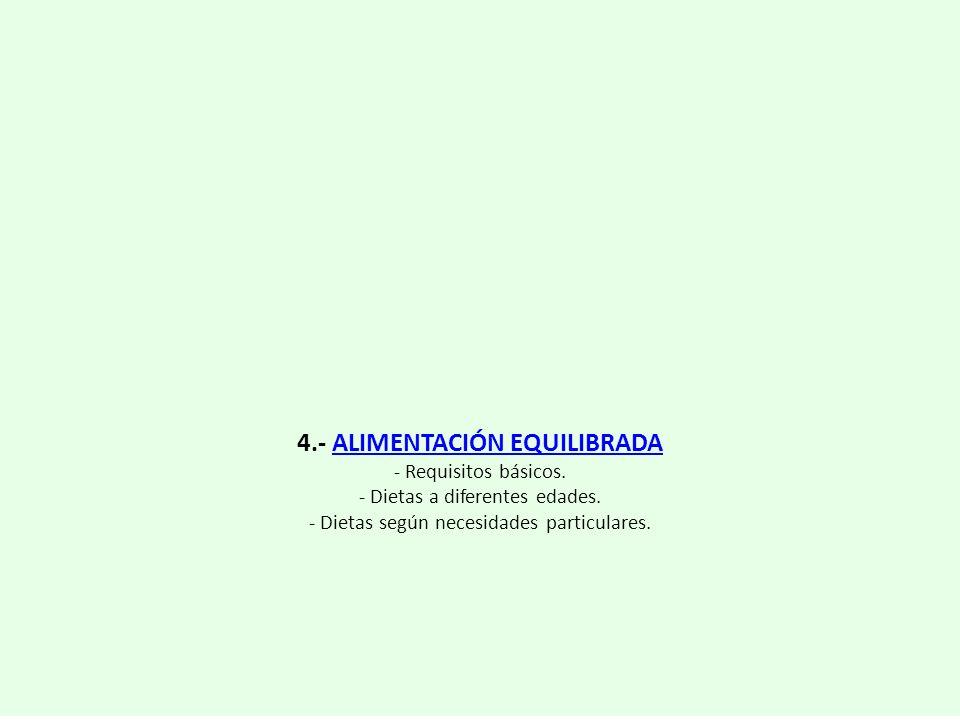 4.- ALIMENTACIÓN EQUILIBRADA