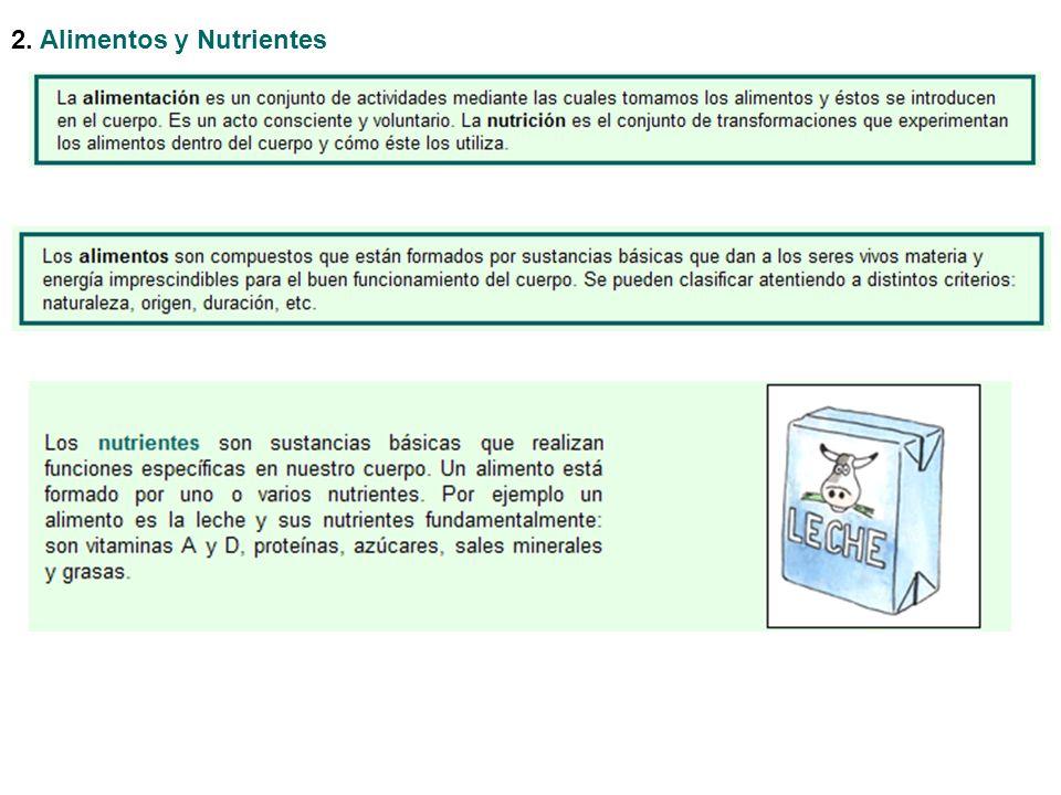 2. Alimentos y Nutrientes
