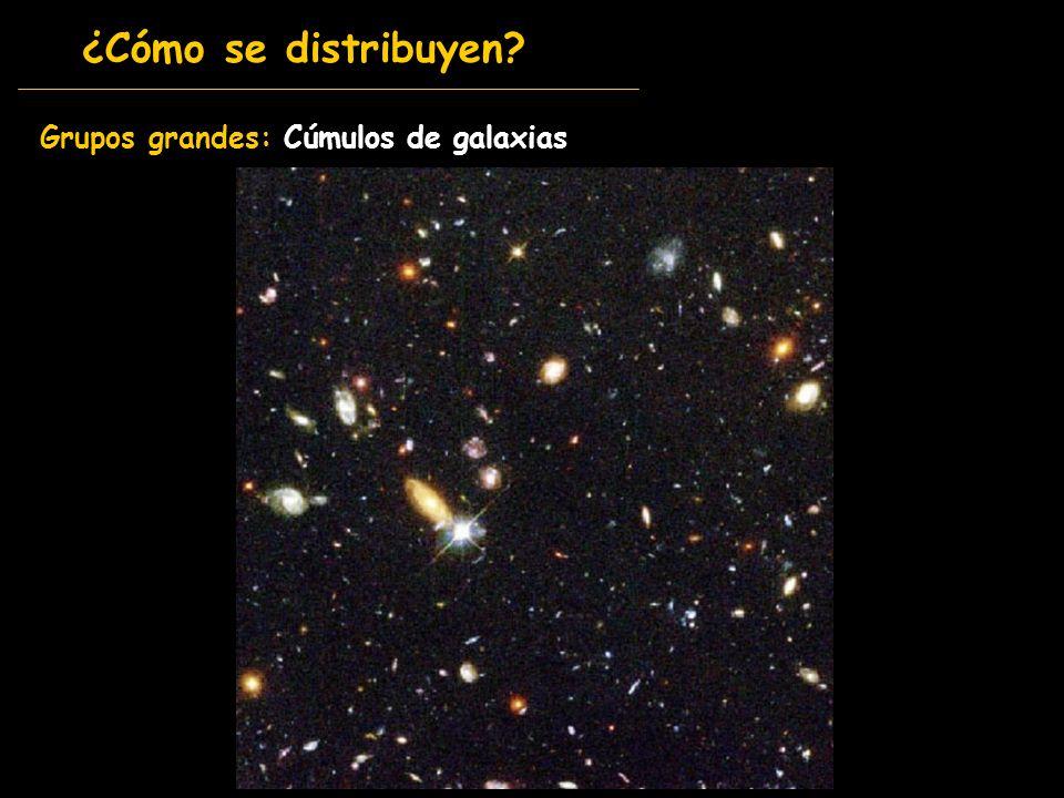 Grupos grandes: Cúmulos de galaxias