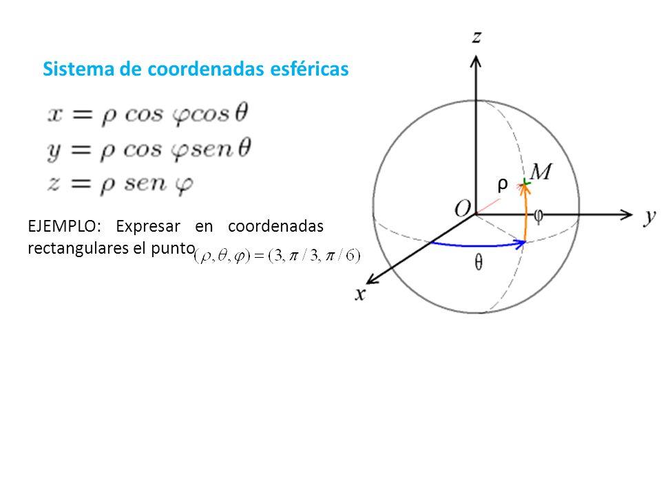 Sistema de coordenadas esféricas