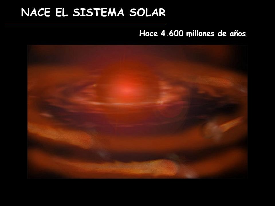 NACE EL SISTEMA SOLAR Hace 4.600 millones de años