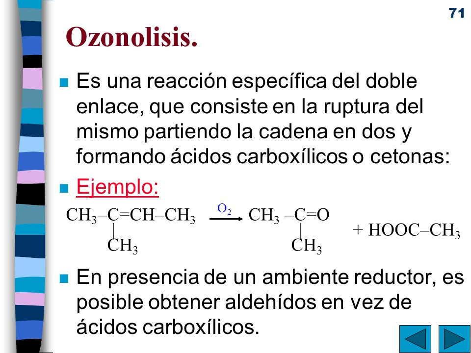 Ozonolisis.
