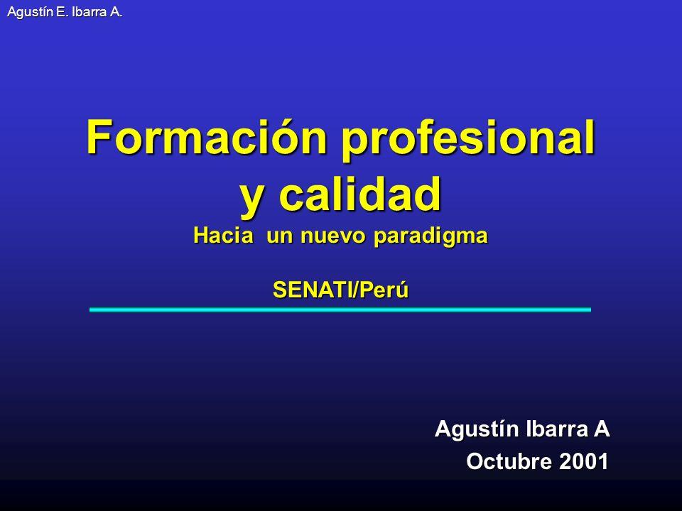 Formación profesional Hacia un nuevo paradigma