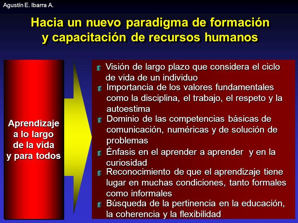 Agustín E. Ibarra A. Hacia un nuevo paradigma de formación y capacitación de recursos humanos. Aprendizaje.