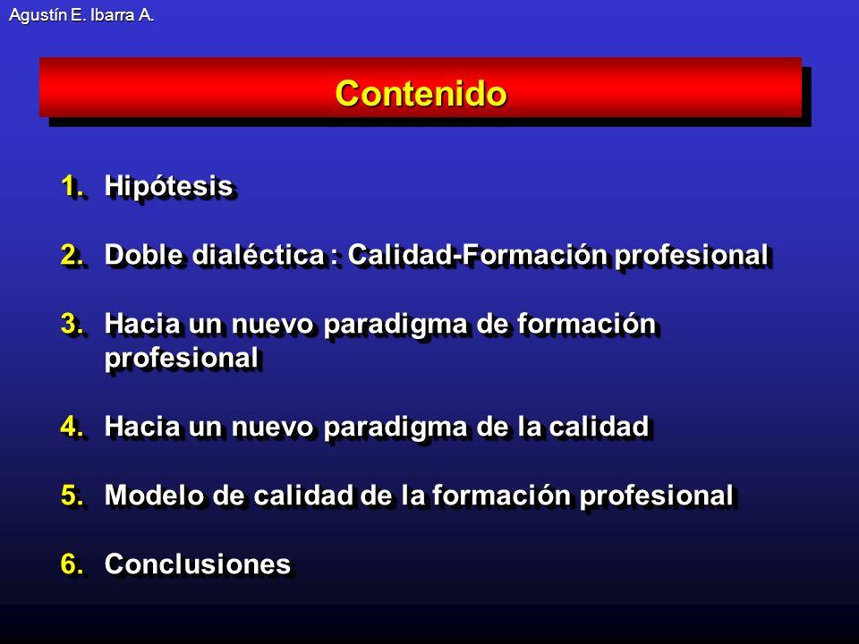 Contenido Hipótesis Doble dialéctica : Calidad-Formación profesional