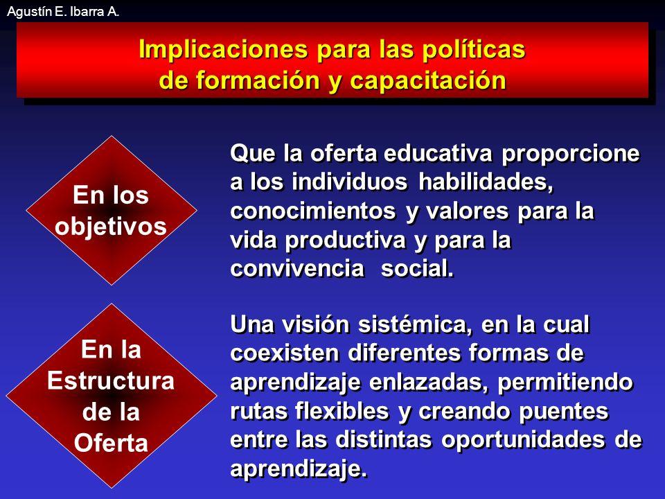Implicaciones para las políticas de formación y capacitación