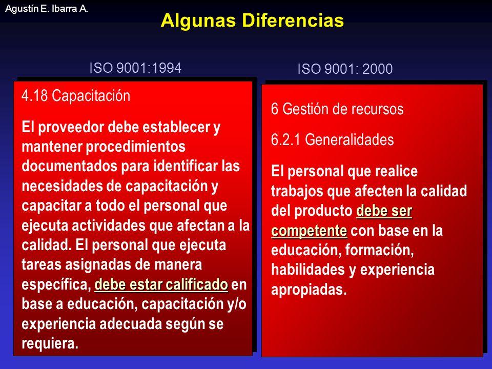 Algunas Diferencias 4.18 Capacitación 6 Gestión de recursos