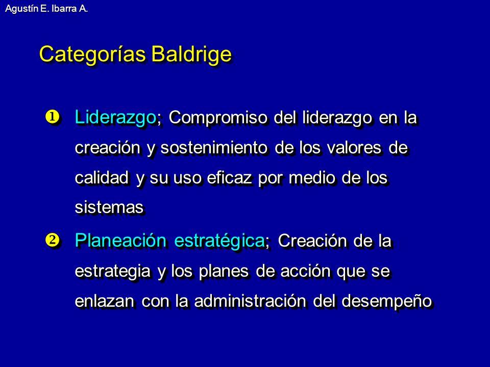 Agustín E. Ibarra A. Categorías Baldrige.