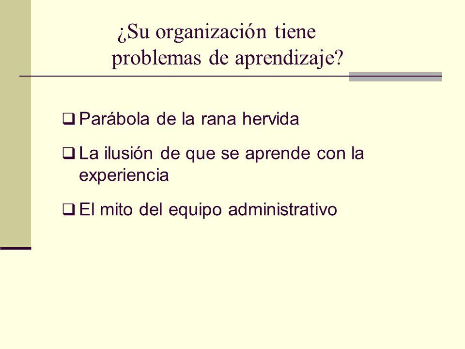 ¿Su organización tiene problemas de aprendizaje