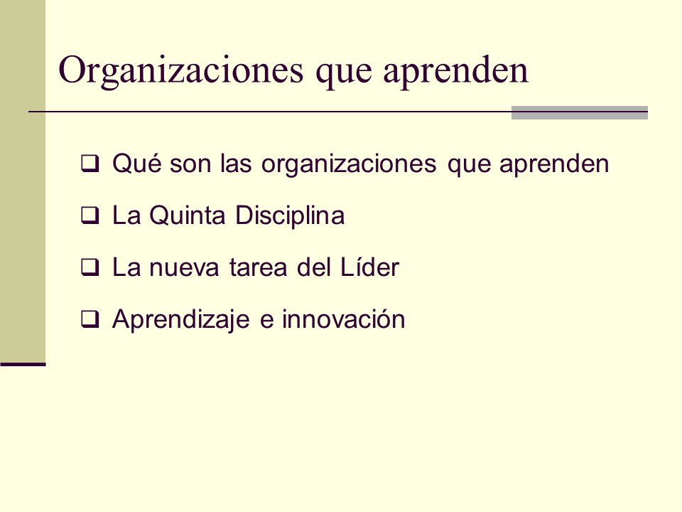 Organizaciones que aprenden