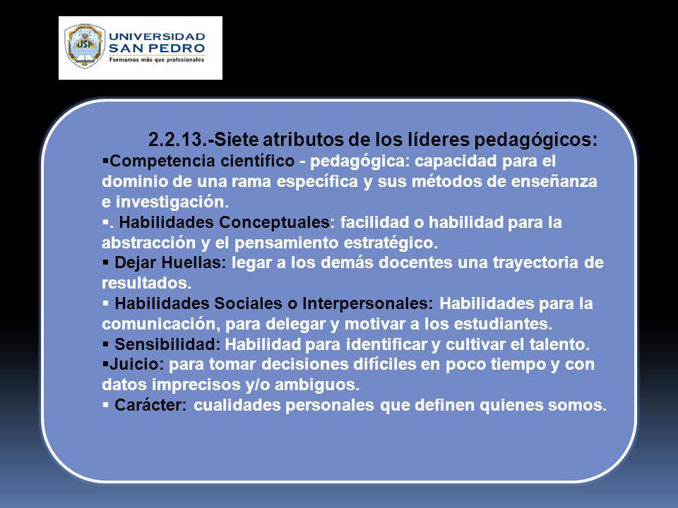 2.2.13.-Siete atributos de los líderes pedagógicos: