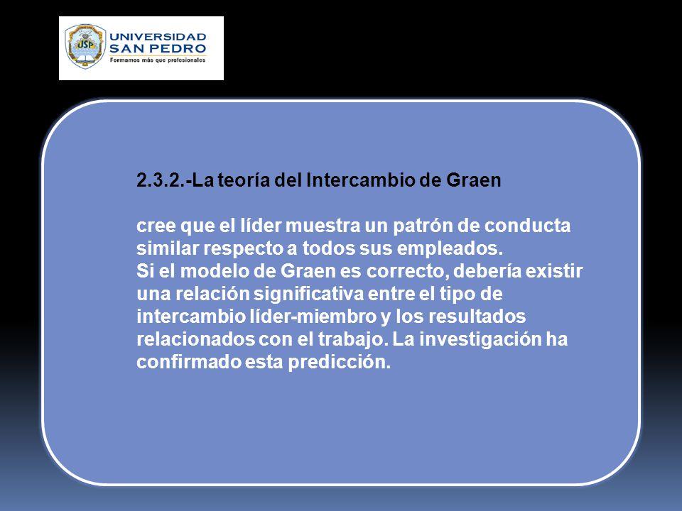 2.3.2.-La teoría del Intercambio de Graen