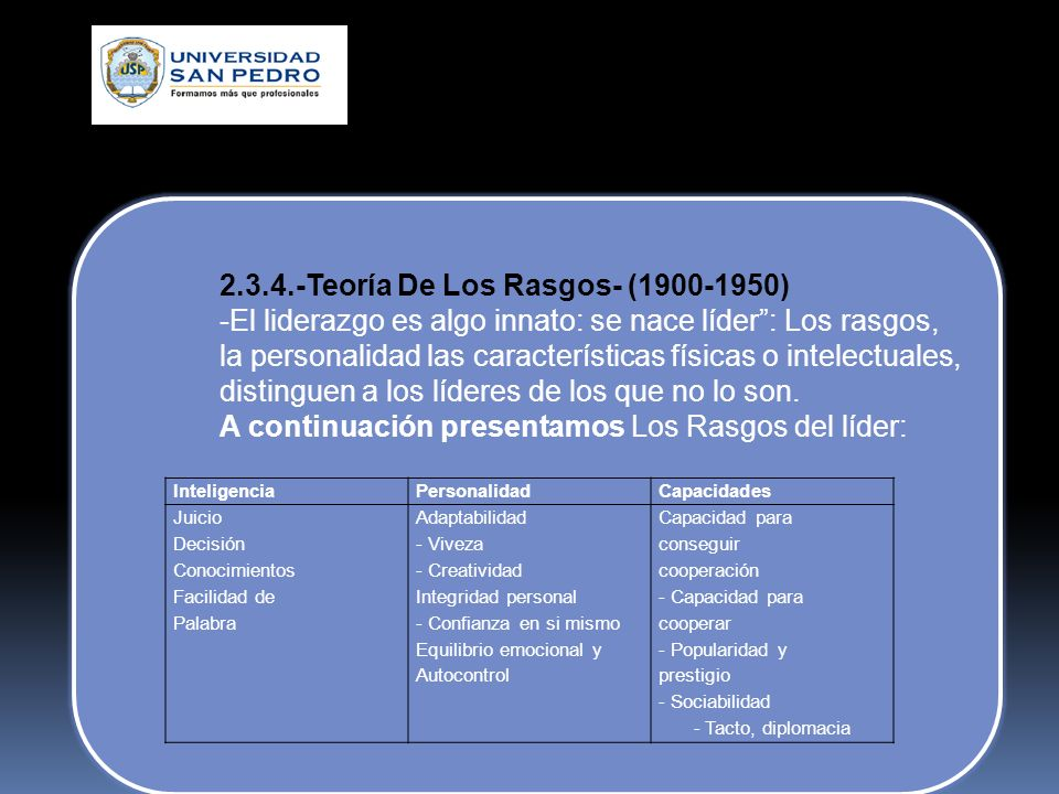 2.3.4.-Teoría De Los Rasgos- (1900-1950)