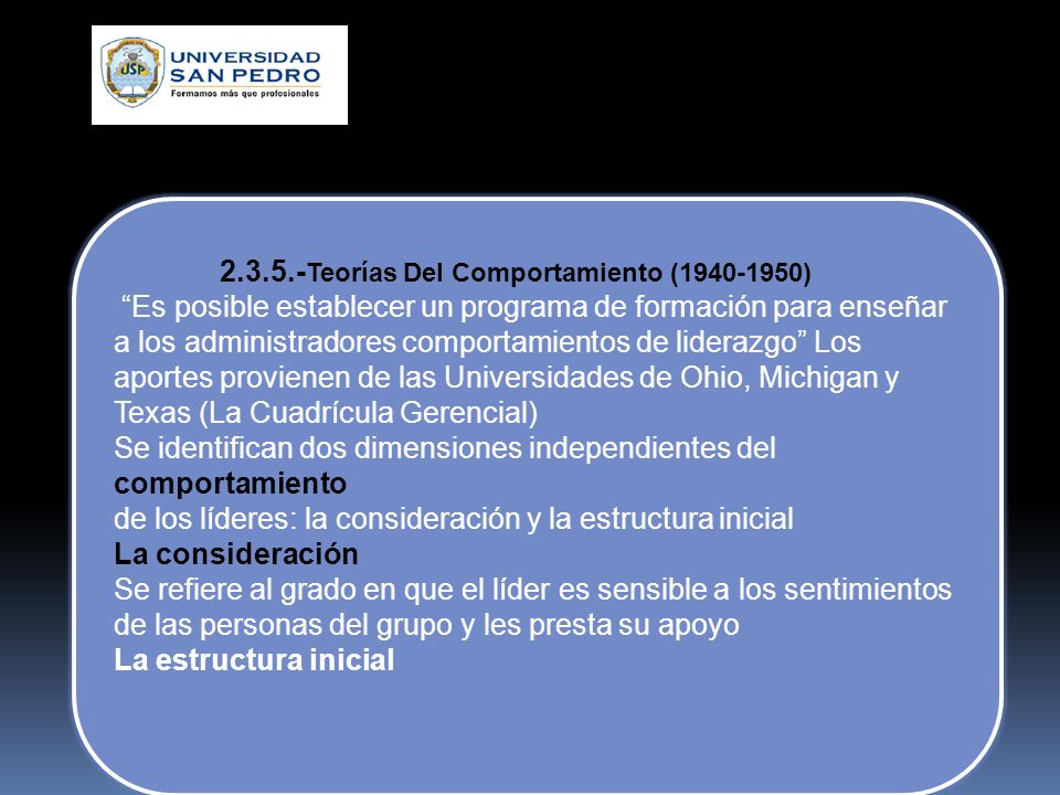 2.3.5.-Teorías Del Comportamiento (1940-1950)