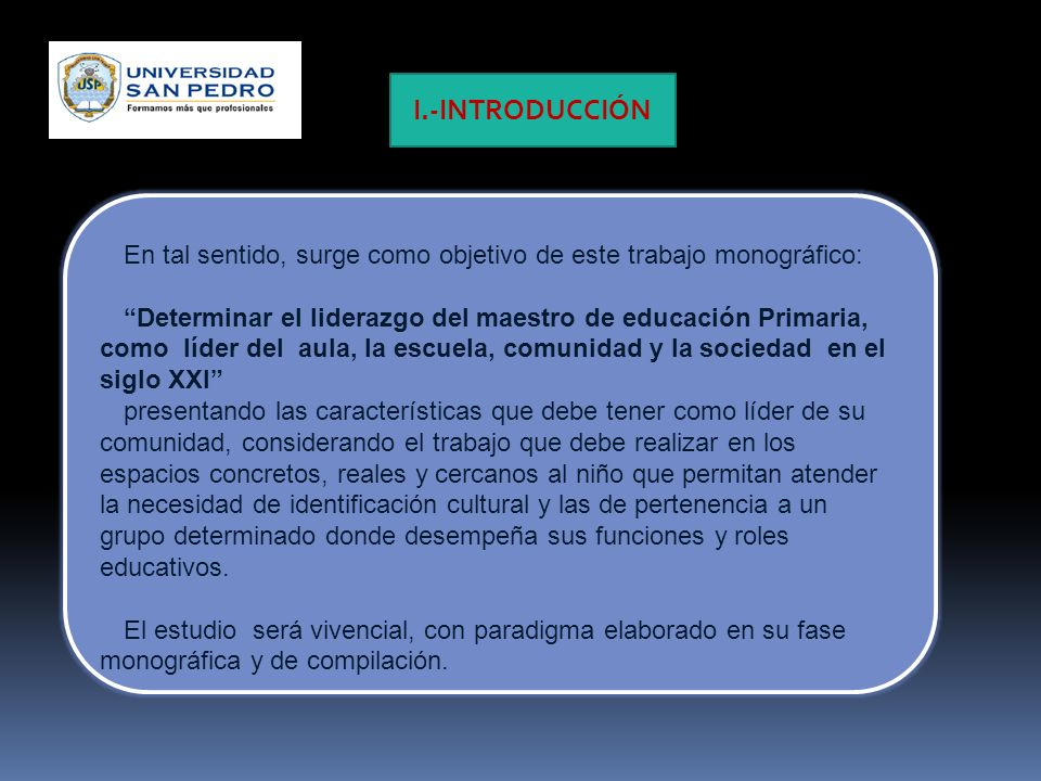 I.-INTRODUCCIÓN En tal sentido, surge como objetivo de este trabajo monográfico: