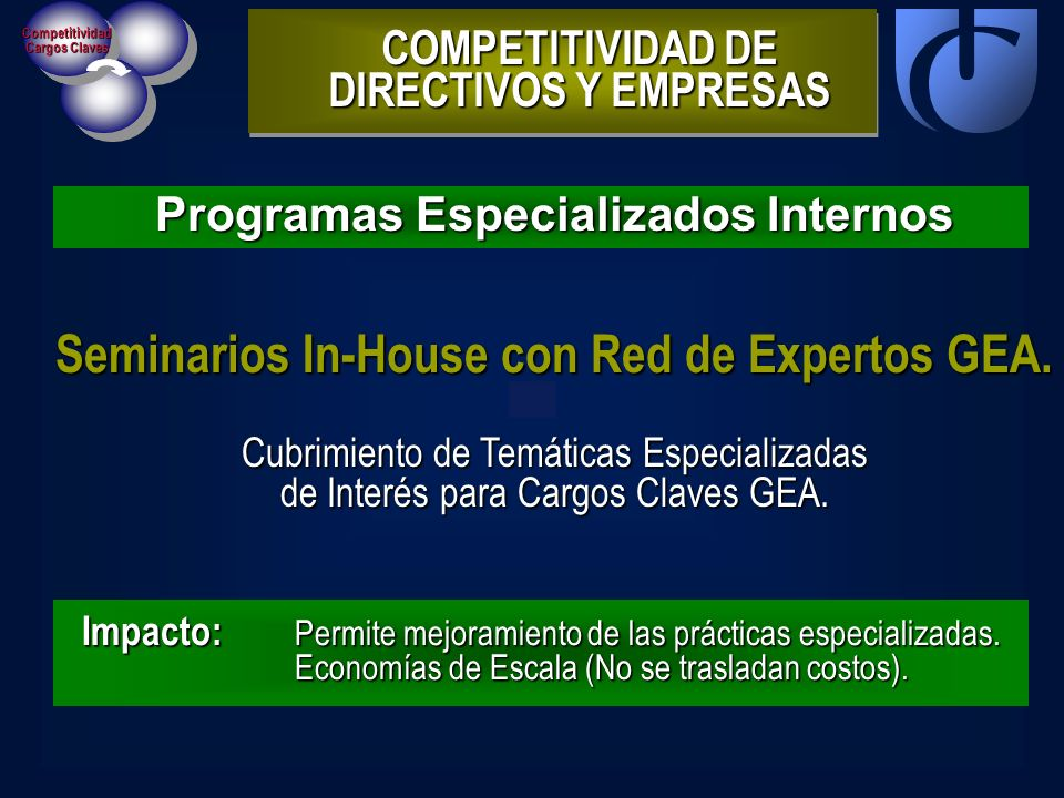 Seminarios In-House con Red de Expertos GEA.