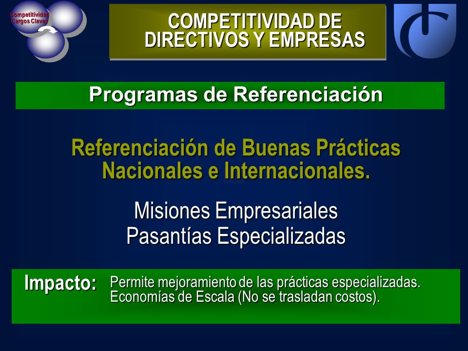 Referenciación de Buenas Prácticas Nacionales e Internacionales.