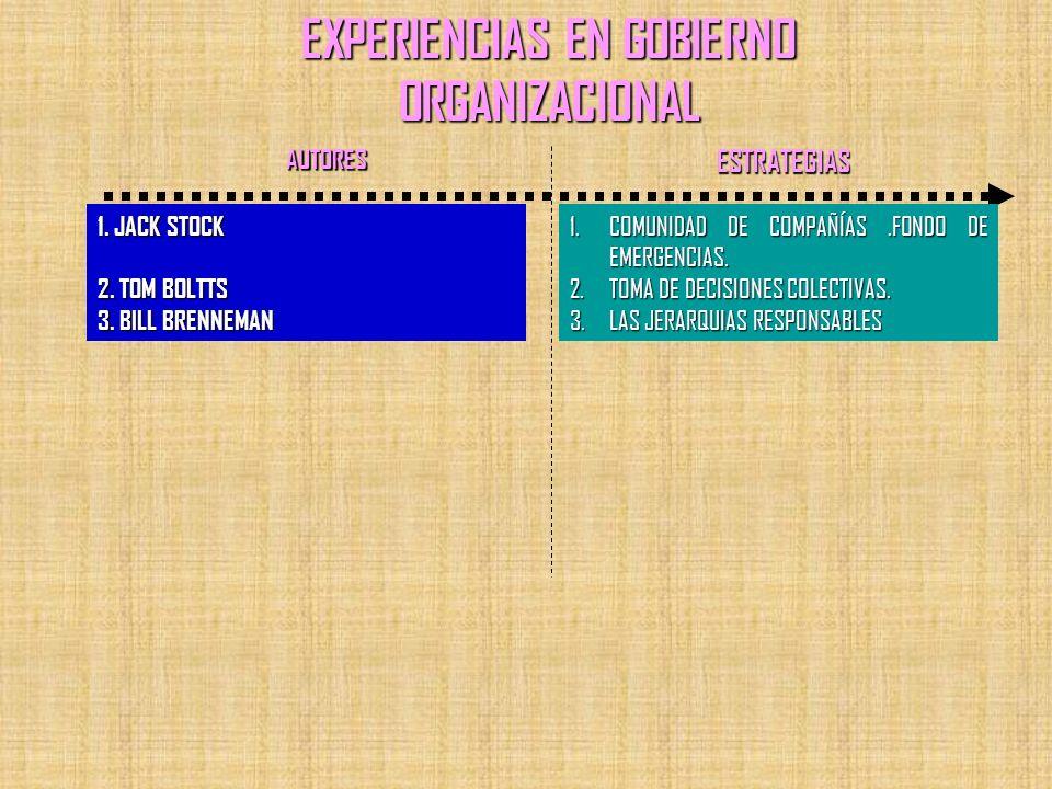 EXPERIENCIAS EN GOBIERNO ORGANIZACIONAL