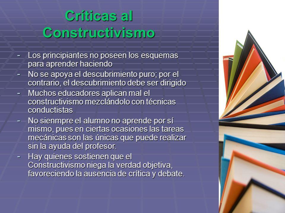 Críticas al Constructivismo