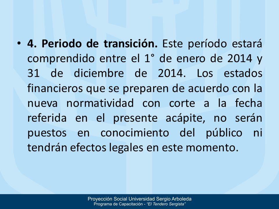 4. Periodo de transición.