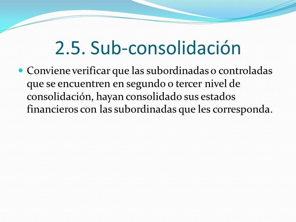 2.5. Sub-consolidación