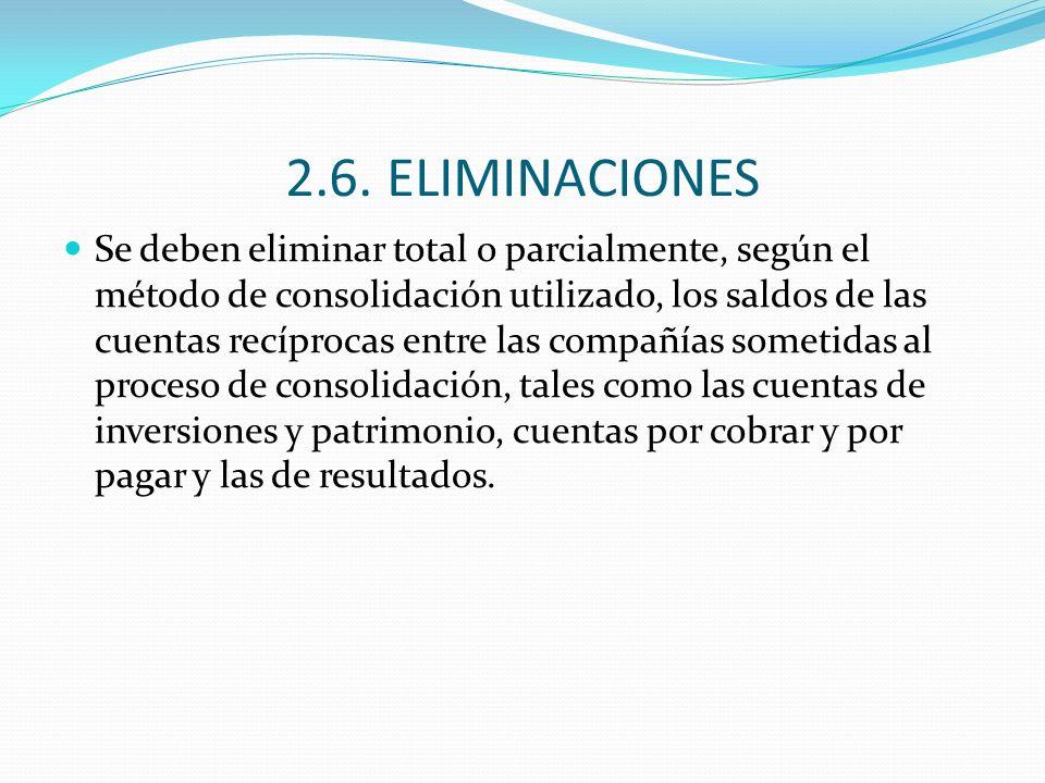 2.6. ELIMINACIONES