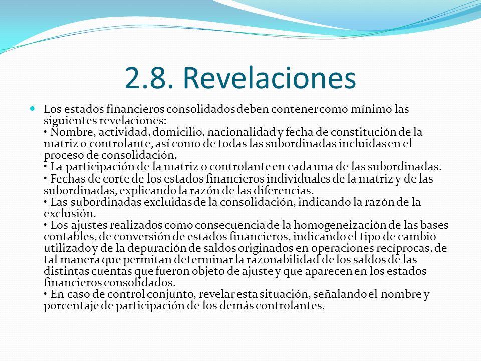 2.8. Revelaciones
