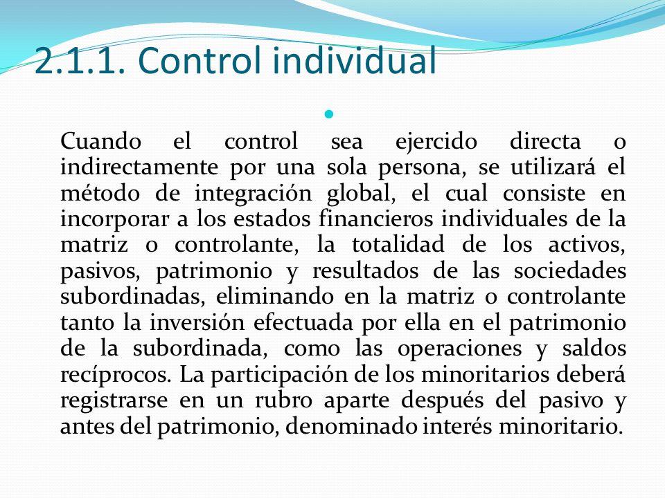 2.1.1. Control individual