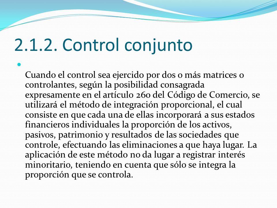 2.1.2. Control conjunto