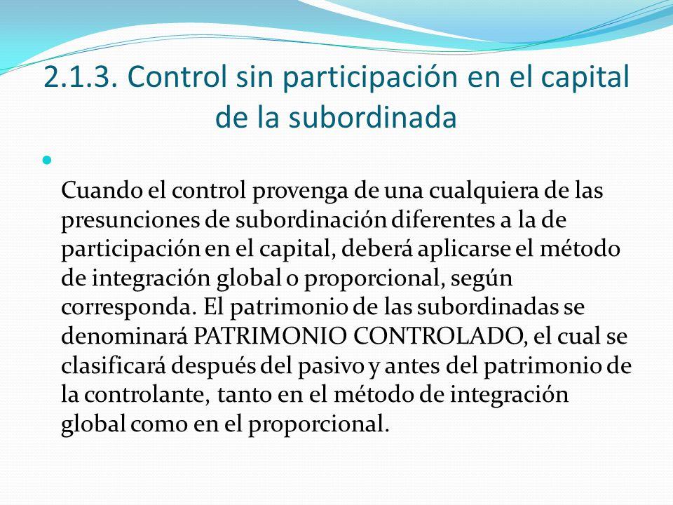 2.1.3. Control sin participación en el capital de la subordinada