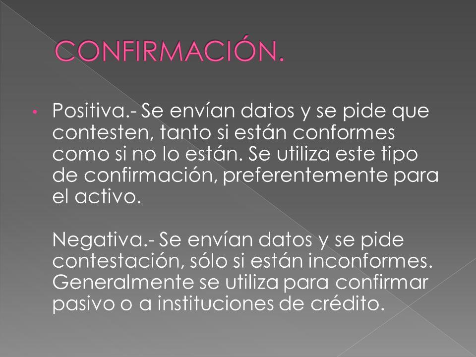 CONFIRMACIÓN.